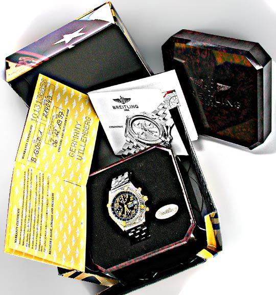 Foto 4, Original Breitling Chronomat STG Pilotband Topuhr Neuz., U1870