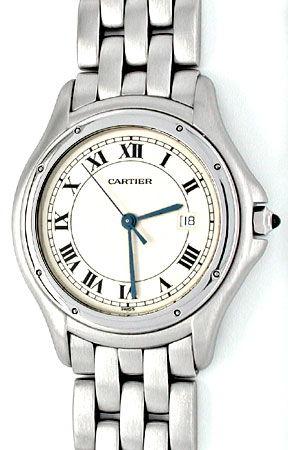 Foto 1, Orig.Hr Cartier Panthere Cougar ST Shop! Neuz Portofrei, U1872