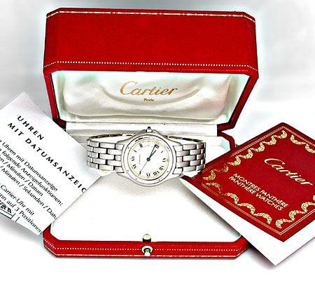Foto 4, Orig.Hr Cartier Panthere Cougar ST Shop! Neuz Portofrei, U1872