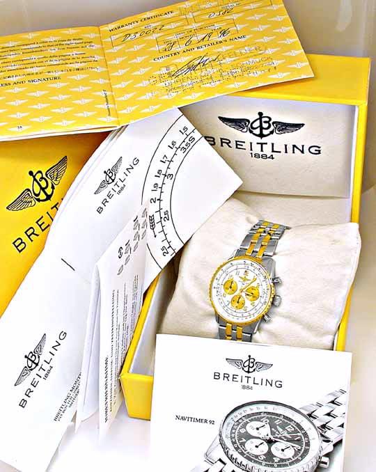Foto 4, Hr Breitling Navitimer92 Pilot St/G Shop! Neu Portofrei, U1873