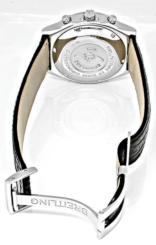 Foto 3, Orig.Hr Breitling Chronomat Stahl Shop! Neuz. Portofrei, U1875