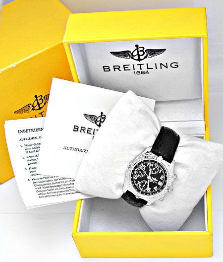 Foto 4, Orig.Hr Breitling Chronomat Stahl Shop! Neuz. Portofrei, U1875