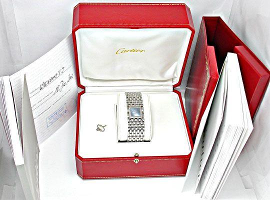 Foto 4, Ungetragene Damen Uhr Cartier Panthere Ruban, Edelstahl, U1878