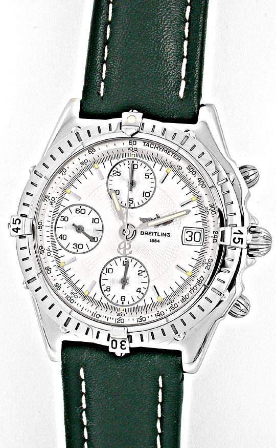 Foto 2, Breitling Chronomat Stahl Chronograph Topuhr Neuzustand, U1879