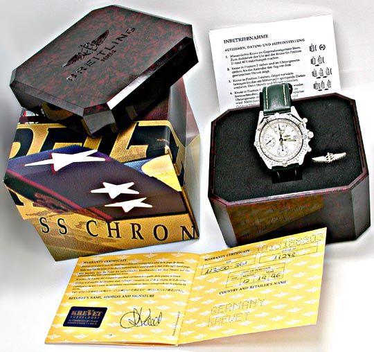 Foto 5, Breitling Chronomat Stahl Chronograph Topuhr Neuzustand, U1879