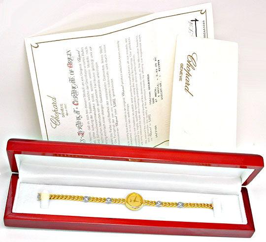 Foto 5, Original Chopard Damen-Brillant-Uhr Topuhr Ungetragen!!, U1882