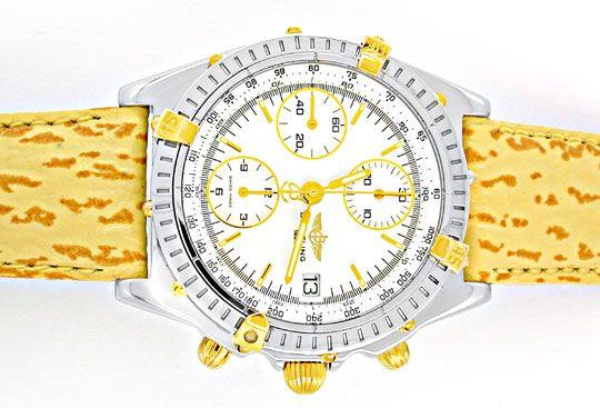 Foto 1, Breitling Chronomat Faltschliesse Stahlgold Topuhr Neuz, U1889