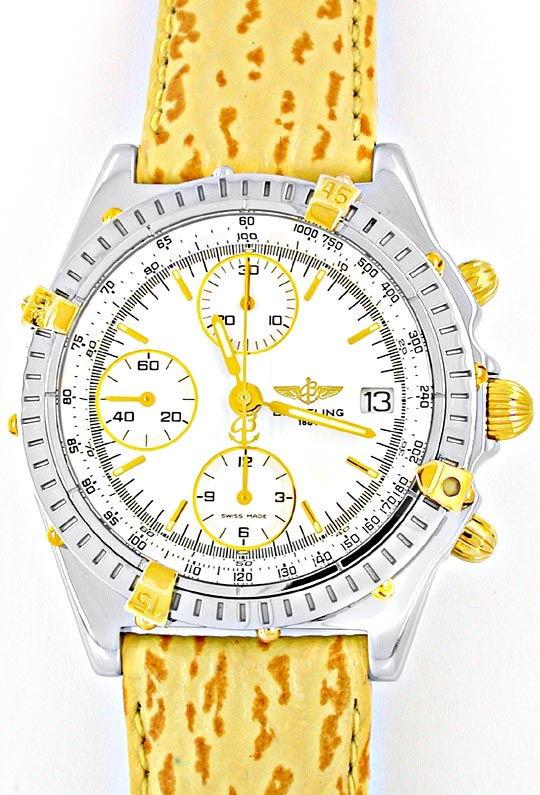 Foto 2, Breitling Chronomat Faltschliesse Stahlgold Topuhr Neuz, U1889