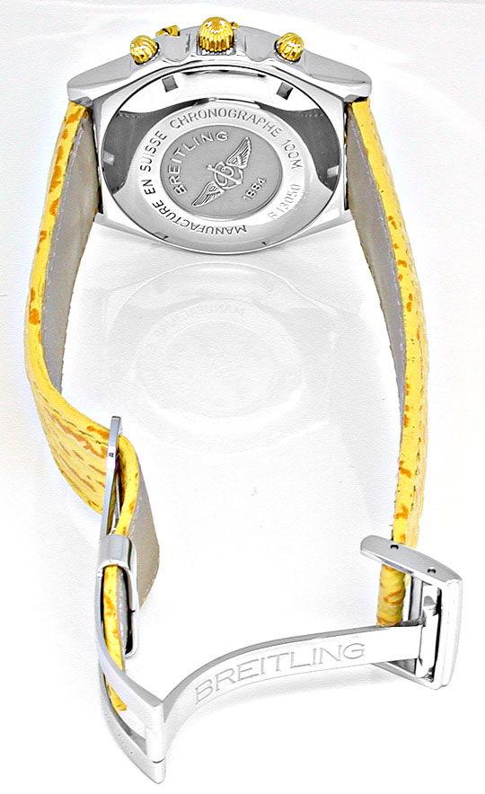 Foto 3, Breitling Chronomat Faltschliesse Stahlgold Topuhr Neuz, U1889