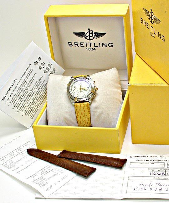 Foto 4, Breitling Chronomat Faltschliesse Stahlgold Topuhr Neuz, U1889