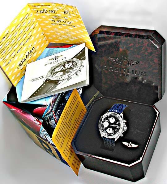 Foto 4, Orig.Breitling Chronograph Edelstahl Topuhr Ungetragen!, U1890