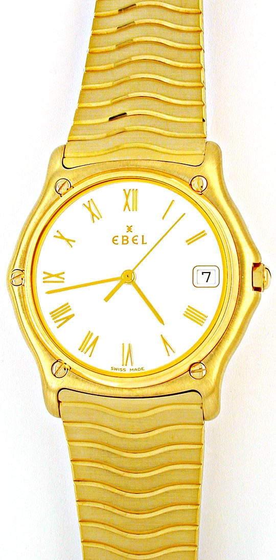 Foto 2, Ebel Herren-Senior Sport-Classic Gelbgold Topuhr Neuz.!, U1891