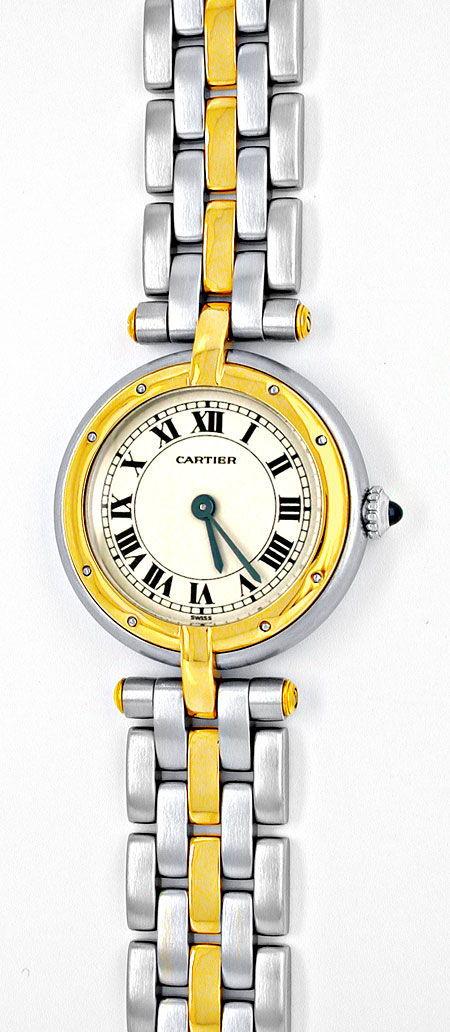 Foto 2, Orig.Cartier Panthere Vendome Damenuhr Stahlgold Topuhr, U1892