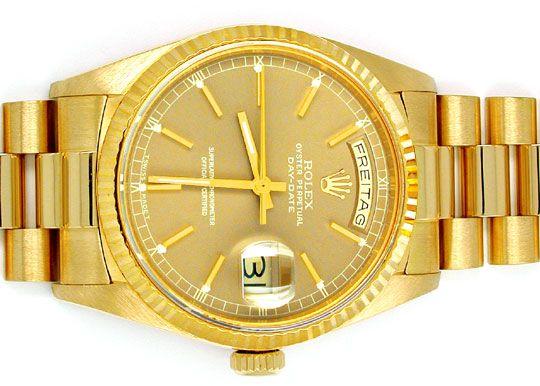 Foto 1, Orig.Hr Rolex Daydate Gold Topuhr Neuzustand! Portofrei, U1893