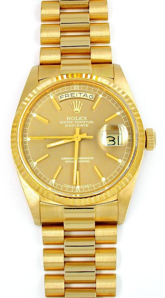 Foto 2, Orig.Hr Rolex Daydate Gold Topuhr Neuzustand! Portofrei, U1893