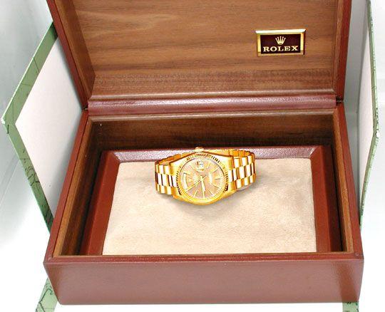Foto 4, Orig.Hr Rolex Daydate Gold Topuhr Neuzustand! Portofrei, U1893