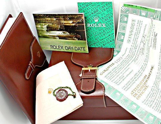 Foto 5, Orig.Hr Rolex Daydate Gold Topuhr Neuzustand! Portofrei, U1893