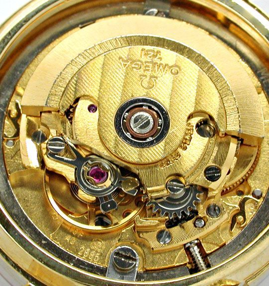 Foto 9, Damen Omega 18K G.Gold Automatik Mondphase Datum Topuhr, U1894