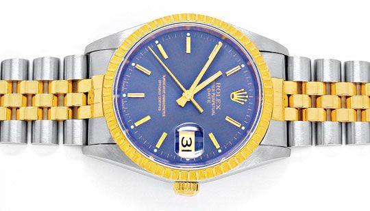 Foto 1, Original Rolex Date Hr Stahlgold Automatik Topuhr Neuw., U1897