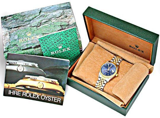 Foto 4, Original Rolex Date Hr Stahlgold Automatik Topuhr Neuw., U1897