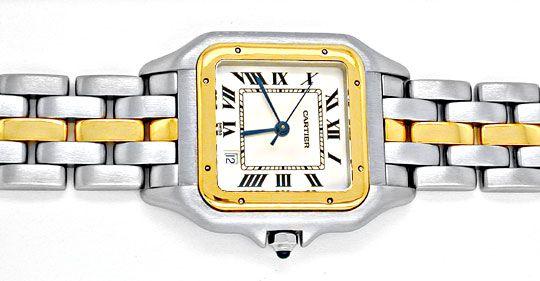 Foto 1, Orig.Cartier-Panthere Stahlgold Herren-Uhr Topuhr Neuw., U1900