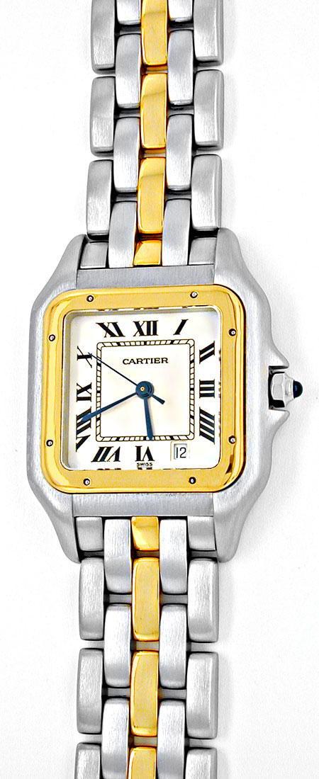 Foto 2, Orig.Cartier Panthere Stahlgold Herren Uhr Topuhr Neuw., U1900