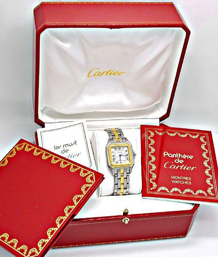 Foto 4, Orig.Cartier-Panthere Stahlgold Herren-Uhr Topuhr Neuw., U1900