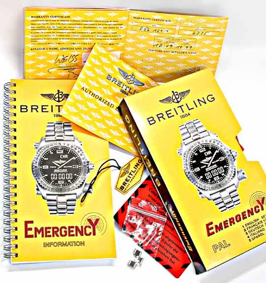 Foto 5, Orig.Breitling-Emergency Titan Shop! Neuzust. Portofrei, U1902