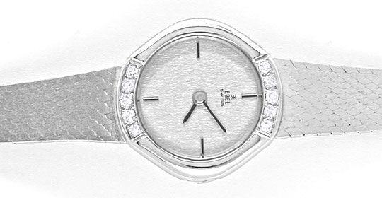 Foto 1, Ebel Damen Armbanduhr Weissgold Diamanten Topuhr Neuz.!, U1904