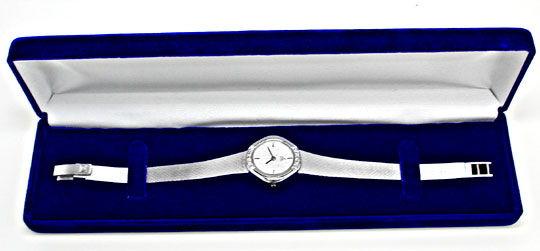 Foto 4, Ebel Damen Armbanduhr Weissgold Diamanten Topuhr Neuz.!, U1904