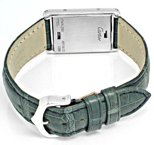 Foto 5, Cartier Tank Basculante Medium Stahl Topuhr Ungetragen!, U1906
