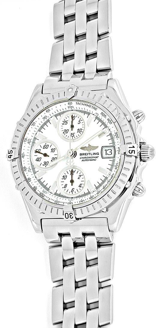 Foto 2, Breitling Chronomat, ST Chronograph Chronometer! Topuhr, U1909