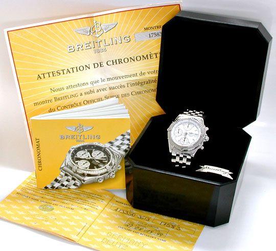 Foto 5, Breitling Chronomat, ST Chronograph Chronometer! Topuhr, U1909