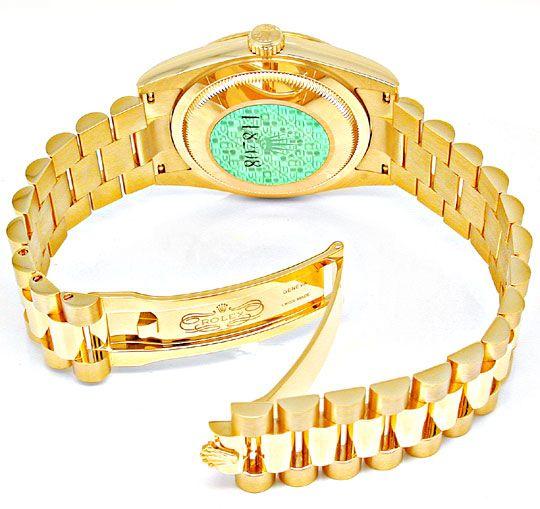 Foto 3, !!Ungetragen!! Rolex Daydate Gold Diam Topuhr Portofrei, U1910