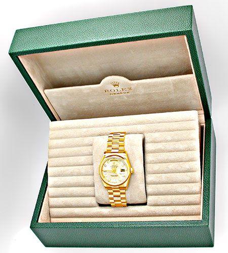 Foto 4, !!Ungetragen!! Rolex Daydate Gold Diam Topuhr Portofrei, U1910
