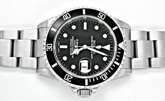 Foto 1, Ungetragen Orig. Rolex Submariner Datum Stahl Herrenuhr, U1913