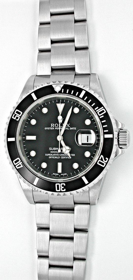 Foto 2, Ungetragen Orig. Rolex Submariner Datum Stahl Herrenuhr, U1913