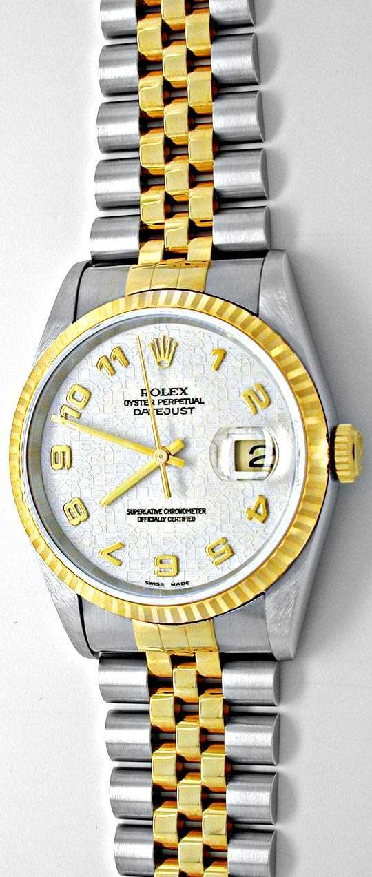 Foto 2, Ungetragen! Orig.Rolex Datejust Stahlgold Herren Topuhr, U1914