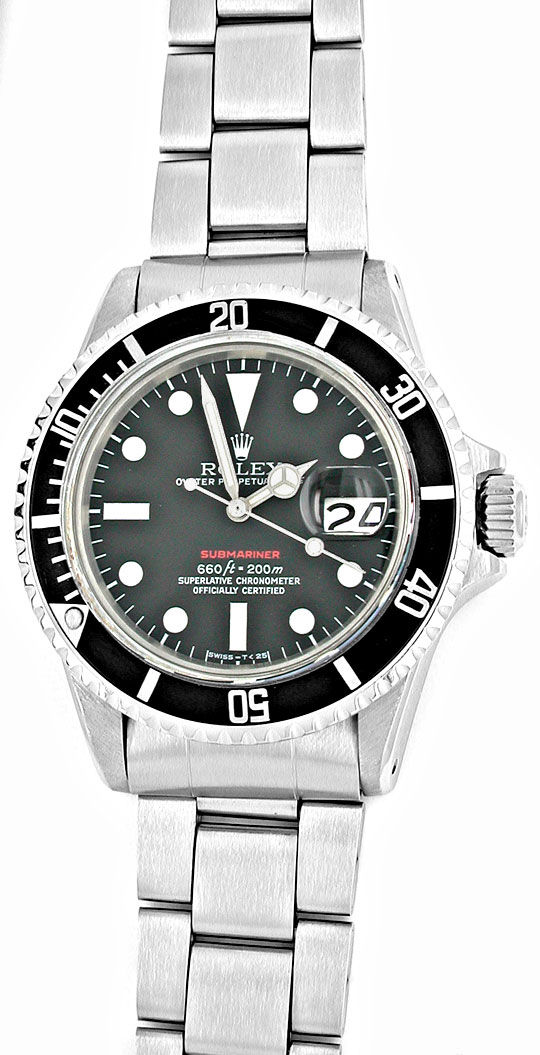 Foto 2, Rolex Submariner Datum Rotschrift Cal.1570 R1680 Topuhr, U1916