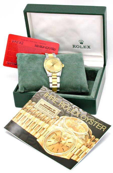 Foto 5, Rolex Oyster Perpetual, Medium, Stahlgold Topuhr Neuz.!, U1919