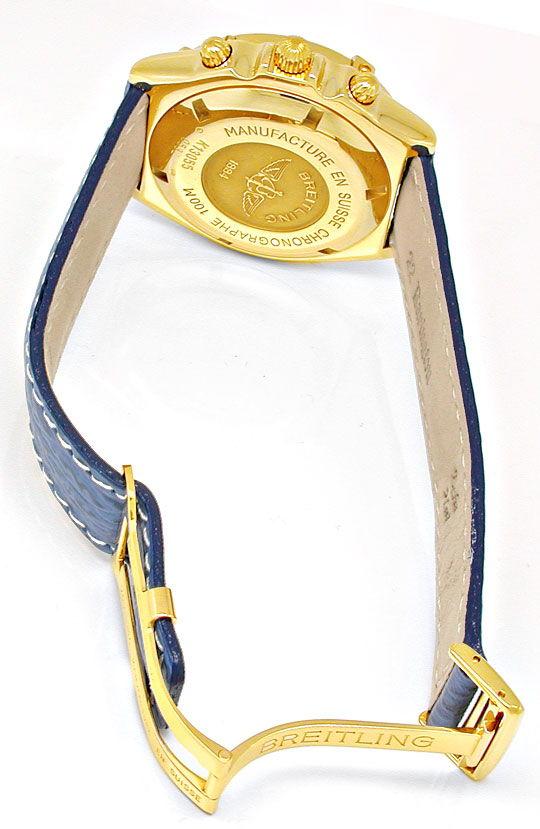 Foto 3, Breitling Crosswind Gelbgold Faltschliesse Geprüft Neuz, U1921