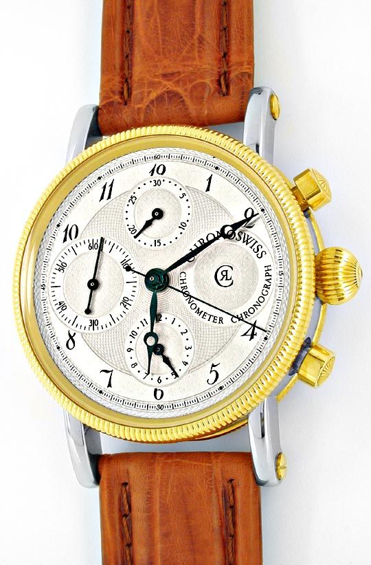 Foto 2, Chronoswiss STG Chronometer Chronograph Topuhr F.Neuz.!, U1927