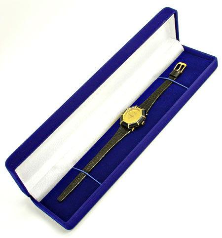 Foto 6, Chopard Damen-Armbanduhr Gold Onyx-Lünette Topuhr Neuz., U1928