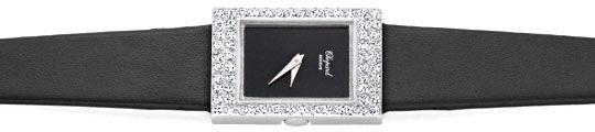 Foto 1, Chopard Damen Uhr 1,0ct Diamanten, 18K Weissgold Topuhr, U1929