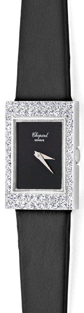 Foto 2, Chopard Damen Uhr 1,0ct Diamanten, 18K Weissgold Topuhr, U1929