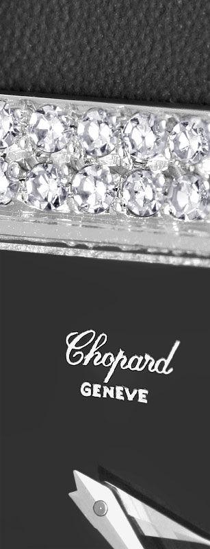 Foto 3, Chopard Damen Uhr 1,0ct Diamanten, 18K Weissgold Topuhr, U1929