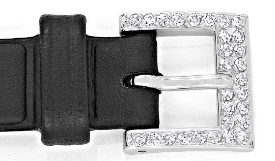 Foto 4, Chopard Damen Uhr 1,0ct Diamanten, 18K Weissgold Topuhr, U1929