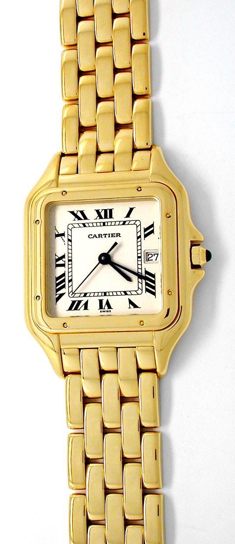 Foto 2, Cartier Panthere Herren Uhr Gelbgold Geprüft Neuzustand, U1930