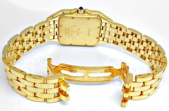 Foto 3, Cartier Panthere Herren Uhr Gelbgold Geprüft Neuzustand, U1930