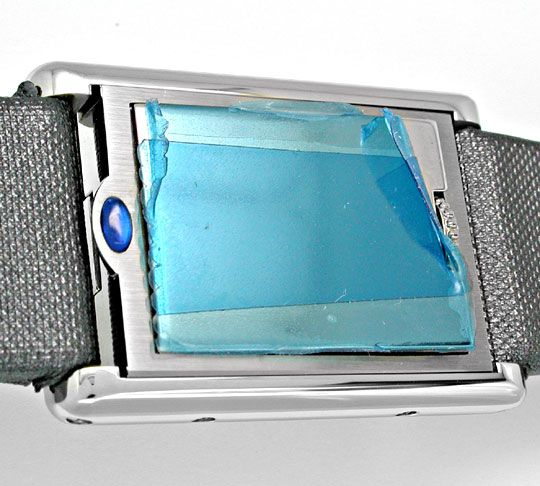 Foto 4, Cartier Basculante Medium Stahl Quarz Topuhr Ungetragen, U1931